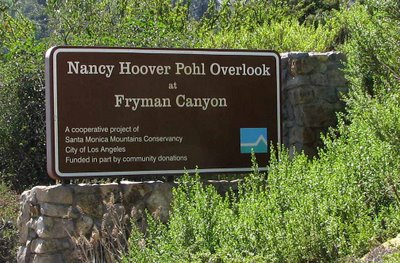 Fryman Canyon Hikes Nancy Hoover Pohl Overlook